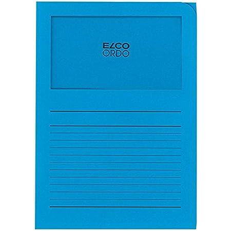 ELCO Lot de 100 Pochettes coins avec fenêtre 120 g/m² 22 x 31 Bleu 29489.32