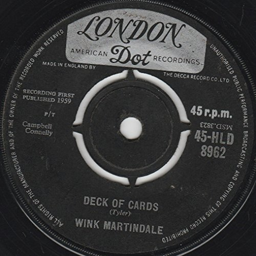 "Wink Martindale - Deck Of Cards - 7"" Single 1959 - London Records 45-HLD 8962 - UK Press"