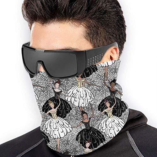 iuitt7rtree Black & White Swan Lake Scarf Neck Gaiter Magic Headband Balaclava Hood Unisex Mask Bandana Winter Warm Headwear One 4500