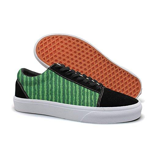 YCFTA Green Watermelon Rind Women's Casual Sneakers Flat Cool Nursing Designer