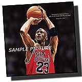 マイケル・ジョーダン シカゴ・ブルズ デザインC NBA プロバスケットボール 海外スポーツアートパネル 木製 壁掛け インテリア ポスター (26*26cm アートパネルのみ)