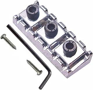 R3 Electric Guitar String Locking Nut For Floyd Rose Tremolo Bridge 43mm (Chrome with black nut)