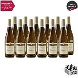 Vin de Savoie Chardonnay Blanc 2018 - Philippe et Sylvain Ravier - Vin AOC Blanc de Savoie - Bugey - Cépage Chardonnay - Lot de 12x75cl