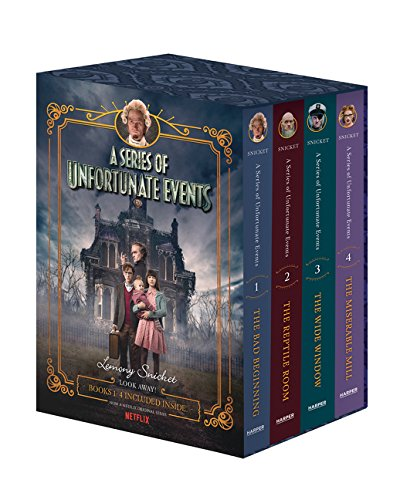 A Series of Unfortunate Events Box Set: The Bad Beginning / The Reptile Room / The Wide Window / The Miserable Mill