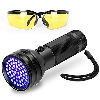 Simply Plus Black Light UV Flashlight, 51 LED Ultraviolet Black Light For Urine Detection For Pet Urine 1