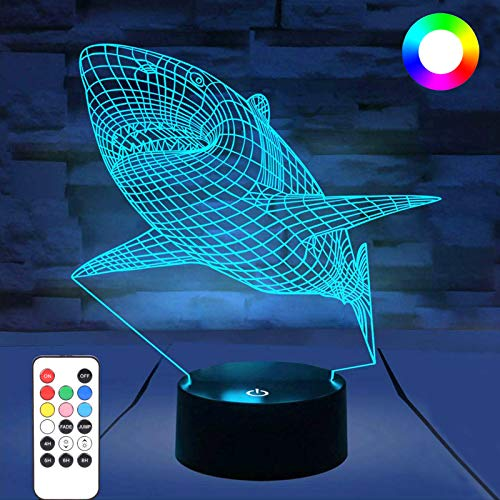 3D Night Lights for Kids, WOHOME iLLusion Lamp with Remote Control and...
