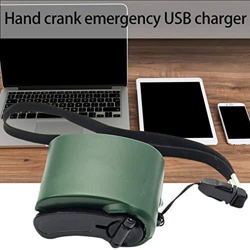 ASDAD Universele draagbare noodstroomvoorziening USB-oplader handslinger voor mobiele telefoons camping rugzak survival tool