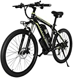 CLIENSY 26' Electric Mountain Bike, 350W Ebike with Removable 36V 10AH Lithium Battery for Adults, 21 Speed Shifter (Green)