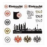 Eintracht Frankfurt Tattoo-Set, Gesichts Aufkleber, Tattoo, temporäre Tattoos SGE - Plus Lesezeichen I Love Frankfurt