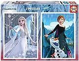 Educa Disney Frozen II. 2 Puzzles de 500 Piezas de Ana y Elsa. Ref. 19016, Multicolor
