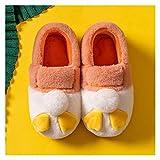 LDH Bolso De Invierno con Zapatillas para Mujer Linda Memoria Interior Espuma Zapatillas Zapatillas para Hombres Zapatillas Al Aire Libre Interior Mujeres (Color : A, Size : 40-41)