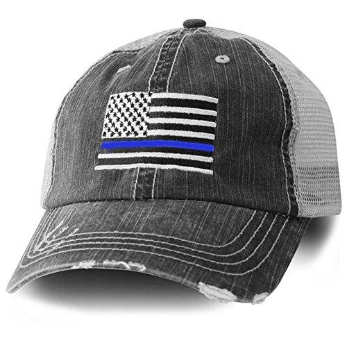 Blue Line American Flag Hat/Cap