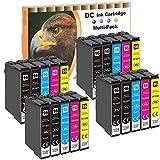 D&C 20er Set Tintenpatronen Druckerpatronen geeignet für Epson Workforce WF 2010 W, 2500 Series, 2510 WF, 2520 NF, 2530 WF, 2540 WF, 2630 WF, 2650 DWF, 2660 DWF, 2660 WF, 2700 Series, 2750, 2760