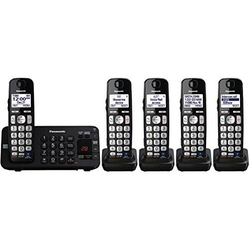 Panasonic KX-TGE245B dect_6.0 5-Handset Landline Telephone (Discontinued By Manufacturer)
