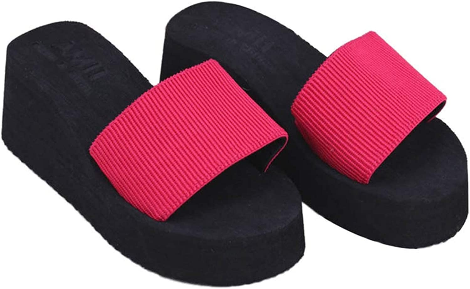 T-JULY Summer Soft Wedge Flip Flops Flat Platform Slippers Ladies Beach Sandals
