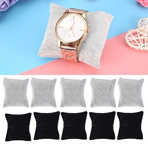 Reloj de la almohada de la exhibición, reloj, AccesoriosWatch Standssmall almohada, pulsera reloj almohada/soporte, para la caja de exhibición del reloj 5 piezas