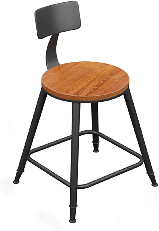 SLH Iron Bar Chair Simple High Stool High Chair Backrest Chair (Size   S)