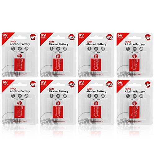 Essential Circuit City 9V High Performance Alkaline Batteries (8 Pack)