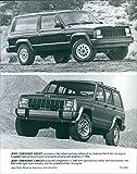 1990 Jeep Cherokee Sport and 1990 Jeep Cherokee Laredo - Vintage Press Photo