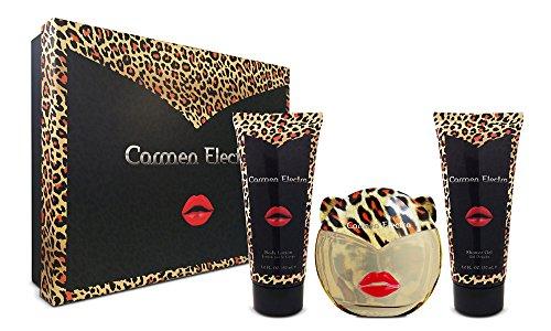 Carmen Electra EDP Set de regalo de loción corporal y gel de ducha, 3.4/5/5 oz