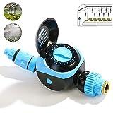 水タイマーデジタル、灌漑タイマー、1つの出口プログラム可能な防水自動ホース蛇口タイマー、手動制御付き、屋外ガーデン灌漑用