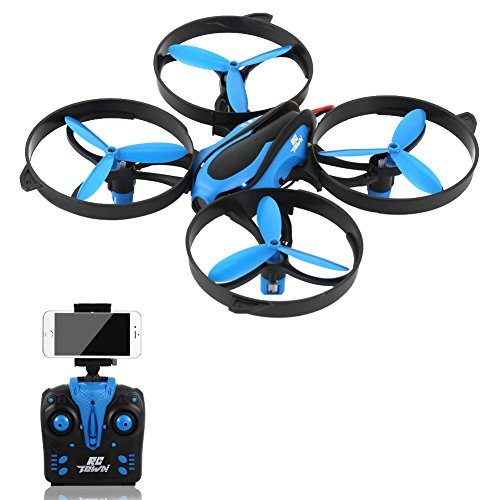 Studyset RCtown HD FPV Camera RC Drone Smartphone Controlled RC Quadcopter Altitude Hold Headless 3D 360° Flips & Rolls One-key Return 4 Channel 2.4GHz 6-Gyro Helicopter