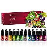 Ciberate E Liquids 12 x 10ml, 12 Aromen E Zigarette Liquids Set, 70VG/30PG Vape Liquids, ohne...
