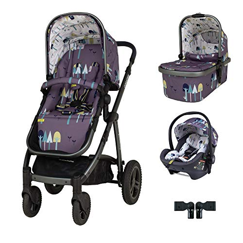 Cosatto Wow 2 Travel System Bundle in Wilderness with RAC Port I Size car seat and Raincover