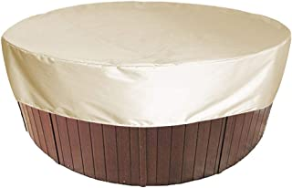 Outdoor Hot Tub Cover Round Swimming Pool Dust Cover Waterproof Lightweight Material Outdoor Spa Covers for SPA Bubble Mes...