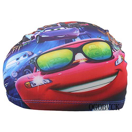 OGOBVCK il Nuoto Cappello Childrens Panno Tessuto Nuoto subacqueo Cartoon Multicolore della Cuffia Maschio o Femmina (Car)