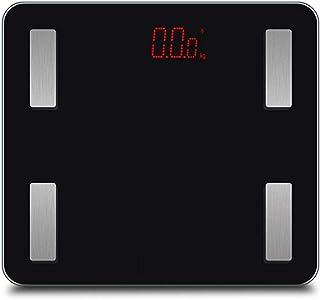 Báscula de baño Digital, báscula, Cuerpo Personal, Vidrio, Peso, Heath Fitness, báscula LCD, máximo 180 kg