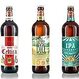 Birra Morena Selezione 3 Craft Beer 75cl (1 Lucana Bio-Vegan, 1 IPA, 1 Celtica Scotch Ale)