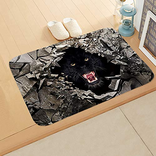 LMSDALAO tapijt 3D Dier Driedimensionale afdrukken Vloermat Zachte Rand Strip Deurmat Tapijt Slaapkamer Corridor Mat