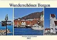 Wunderschoenes Bergen. Norwegens Tor zum Fjordland (Wandkalender 2022 DIN A2 quer): Stadtansichten von Bergen (Monatskalender, 14 Seiten )