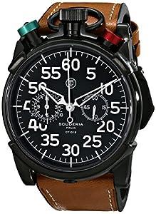 CT Scuderia Men's CS20105 Analog Display Swiss Quartz Brown Watch image