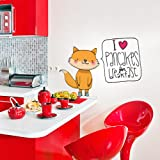 kina R00172 Stickers muraux pour Enfants imprimé sur papiers Peints Wall Art - J'aime Les crêpes - 60x37 cm