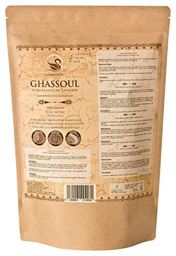 cosmundi Ghassoul Marokkanische Lavaerde 2kg Nachfüllpackung Mineralische Tonerde für Haarwäsche Körperpflege & Peeling