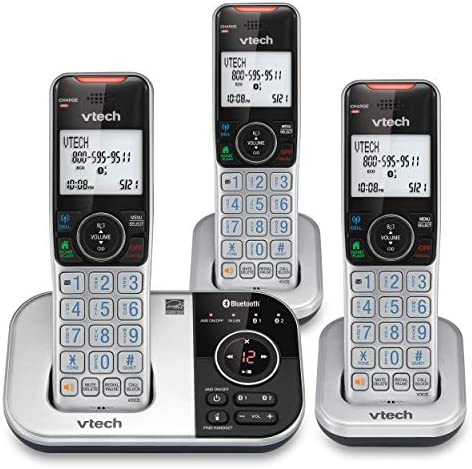 VTECH VS112 3 DECT 6 0 Bluetooth 3 Handset Cordless Phone for Home with Answering Machine Call product image