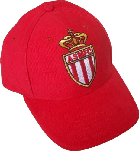 AS MONACO Casquette Officielle Foobtball Club Supporter - Taille réglable Enfant/Ado/Adulte