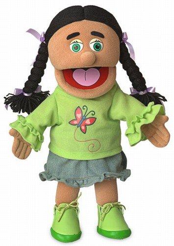 14' Jasmine, Hispanic Girl, Hand Puppet