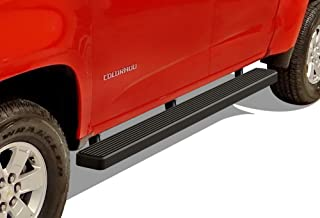 APS iBoard (Black Powder Coated 5 inches) Running Boards Nerf Bars Side Steps Step Rails Compatible with 2015-2020 Chevy Colorado GMC Canyon Crew Cab Pickup 4-Door
