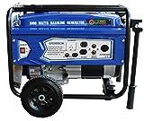 Green-Power America GPD5000CW Consumer Select Series Recoil Start Generator-5,000 Watts, Blue