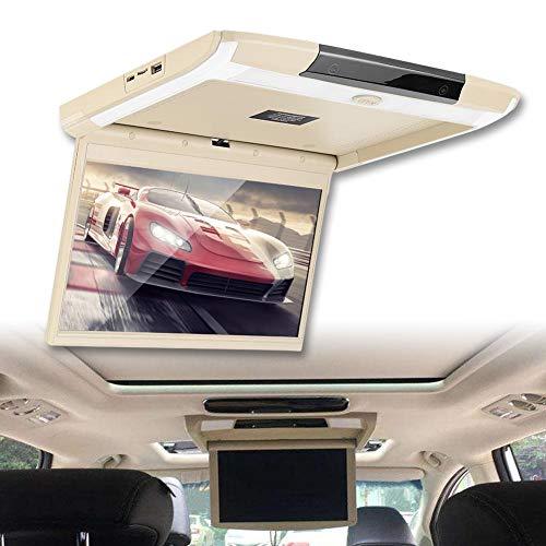 Pantalla de montaje para coche, monitor de techo para coche USB WIFI LCD USB de 12,5 pulgadas 1920 x 1080P, monitor abatible, para 8.1
