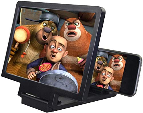 8 Zoll Handy 3D Bildschirmlupe,Vergrößerer Bildschirm, Smartphone-Bildschirmverstärker-Projektor-Vergrößerer 3D-Bildschirm