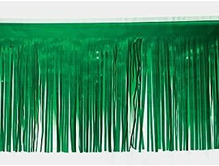 Grass Green Vinyl Fringe, 15 Inches x 10 Feet, Parade Float Decoration