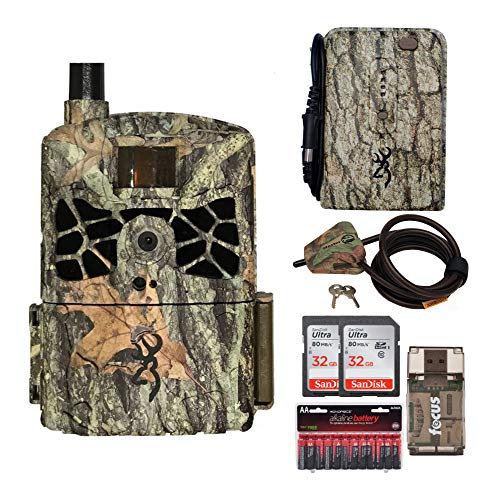 Browning Trail Cameras Defender Wireless 20MP Game Camera AT&T with Memory Cards, Card Reader and Accessory Bundle (7 Items)