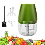 Electric Mini Food Chopper Wireless Portable, Trendrange Powerful Small Food Processor Garlic Mincer Onion Grinder USB Charging BPA Free Baby Food Blender for Kitchen Nuts Meat Chili, 250ml