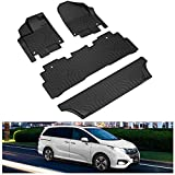 KIWI MASTER Floor Mats Compatible for 2018-2021 Honda Odyssey Accessories All Weather Protector Mat Front & Rear 3 Row Seat TPE Slush Liners Black
