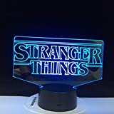 The TV Show Stranger Things Best Present Adulto Decoración de interiores Lámpara de mesa 3D con luz LED Lámpara de luz nocturna