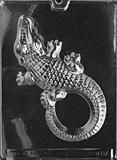 Cybrtrayd Life of the Party A067 Large Alligator Chocolate Candy Mold in Sealed Protective Poly Bag Imprinted with Copyrighted Cybrtrayd Molding Instructions